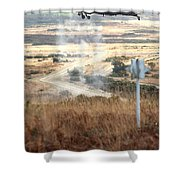 Ah64d Apache Longbow Helicopters  Shower Curtain