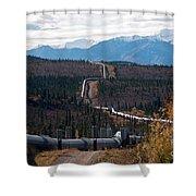 Alaska Oil Pipeline Shower Curtain