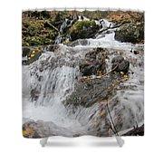 Alaskan Waterfall Shower Curtain