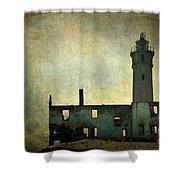 Alcatraz Island Lighthouse Shower Curtain