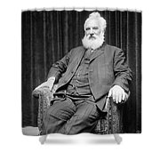 Alexander Graham Bell Shower Curtain