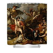 Alexander IIi Of Scotland Rescued From The Fury Of A Stag By The Intrepidity Of Colin Fitzgerald  Shower Curtain