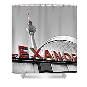 Alexander Platz - Berlin Shower Curtain