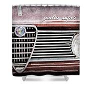 Alfa-romeo Guilia Super Grille Emblem Shower Curtain