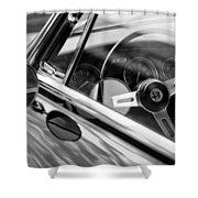Alfa Romeo Steering Wheel Shower Curtain