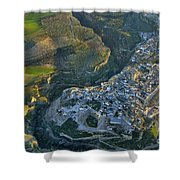 Alhama De Granada From The Air Shower Curtain