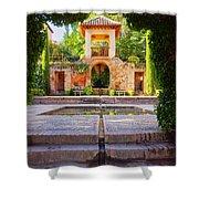 Alhambra In Granada Shower Curtain