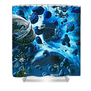 Alien Pirates  Shower Curtain