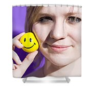 All Smiling Woman Shower Curtain