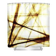 Along These Lines Shower Curtain