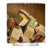 Alphabet Blocks Shower Curtain