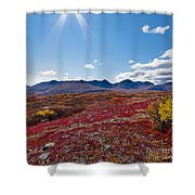 Alpine Landscape In Fall Shower Curtain