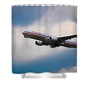 American Airlines Boeing 777 Shower Curtain