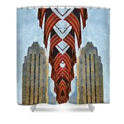 American Architecture Shower Curtain