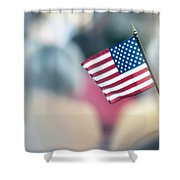 American Flag Shower Curtain by Alex Grichenko