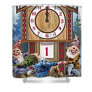 American New Years Card Shower Curtain
