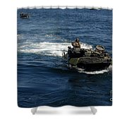 Amphibious Assault Vehicles Transit Shower Curtain