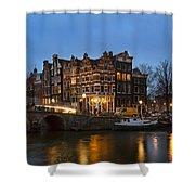 Amsterdam Corner Cafe Shower Curtain