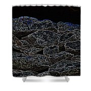 An Abstract View Of An Irish Dry Stone Wall Shower Curtain