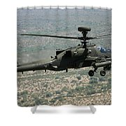 An Apache Ah64d Helicopter Shower Curtain