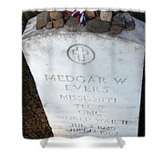Medgar Evers -- An Assassinated Veteran Shower Curtain