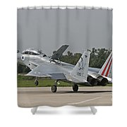 An F-15b Baz Of The Israeli Air Force Shower Curtain