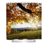 Late In The Day And A Setting Sun Shower Curtain