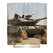 An Israel Defense Force Magach 7 Main Shower Curtain