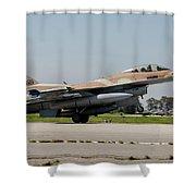 An Israeli Air Force F-16c Shower Curtain