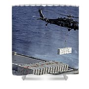 An Mh-60s Sea Hawk Helicopter Picks Shower Curtain