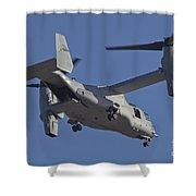 An Mv-22b Osprey Prepares For Landing Shower Curtain