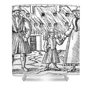 Anabaptist Family Shower Curtain