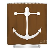 Anchor In Brown And White Shower Curtain