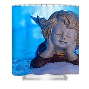 Angel In Snow  Shower Curtain
