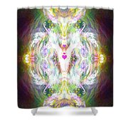 Angel Of Positive Thoughts Shower Curtain
