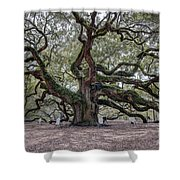 Angel Tree Shower Curtain