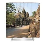 Angkor Thom Shower Curtain
