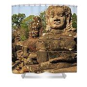 Angkor Thom South Gate Shower Curtain