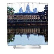 Angkor Wat Reflection Shower Curtain