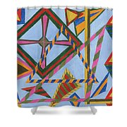 Angles And Tangles Shower Curtain