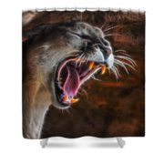 Angry Cougar 1 Shower Curtain