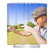 Angry Golf Shower Curtain