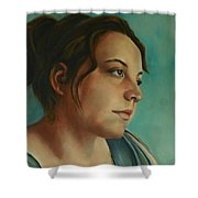 Anja Daydreaming Shower Curtain
