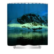 Antarctic Fiord Shower Curtain