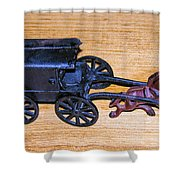Antique Cast Iron Toy Shower Curtain