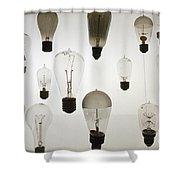 Antique Light Bulbs Shower Curtain