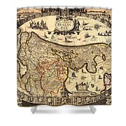 Antique Map Of Holland 1630 Shower Curtain