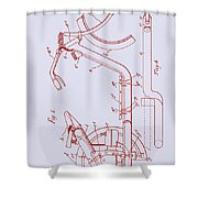 Antique Motorcycle Patent 1921 Shower Curtain