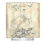 Apple Mouse Patent 1984 - Vintage Shower Curtain