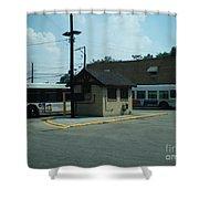 Archer/neva Cta Bus Terminal Shower Curtain